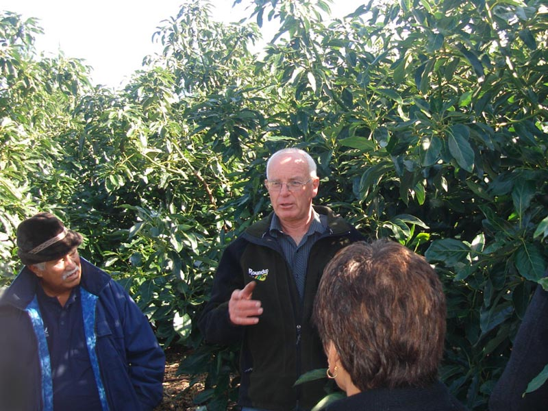 Manager, Paul Tolladay, leads a tour of the orchard