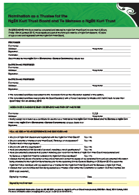 2018 Trustee Nomination Form